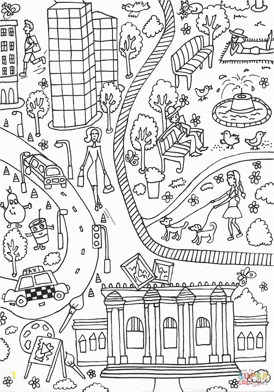 Love Central Park Coloring Pages And Metropolitan Museum Art Page Free