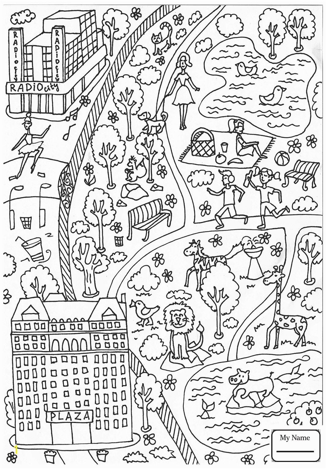 Outstanding Central Park Coloring Pages Architecture And Metropolitan Museum