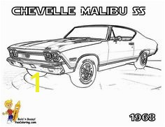 Chevy Chevelle Coloring Pages Race Car to Print Car Coloring Pages Cars