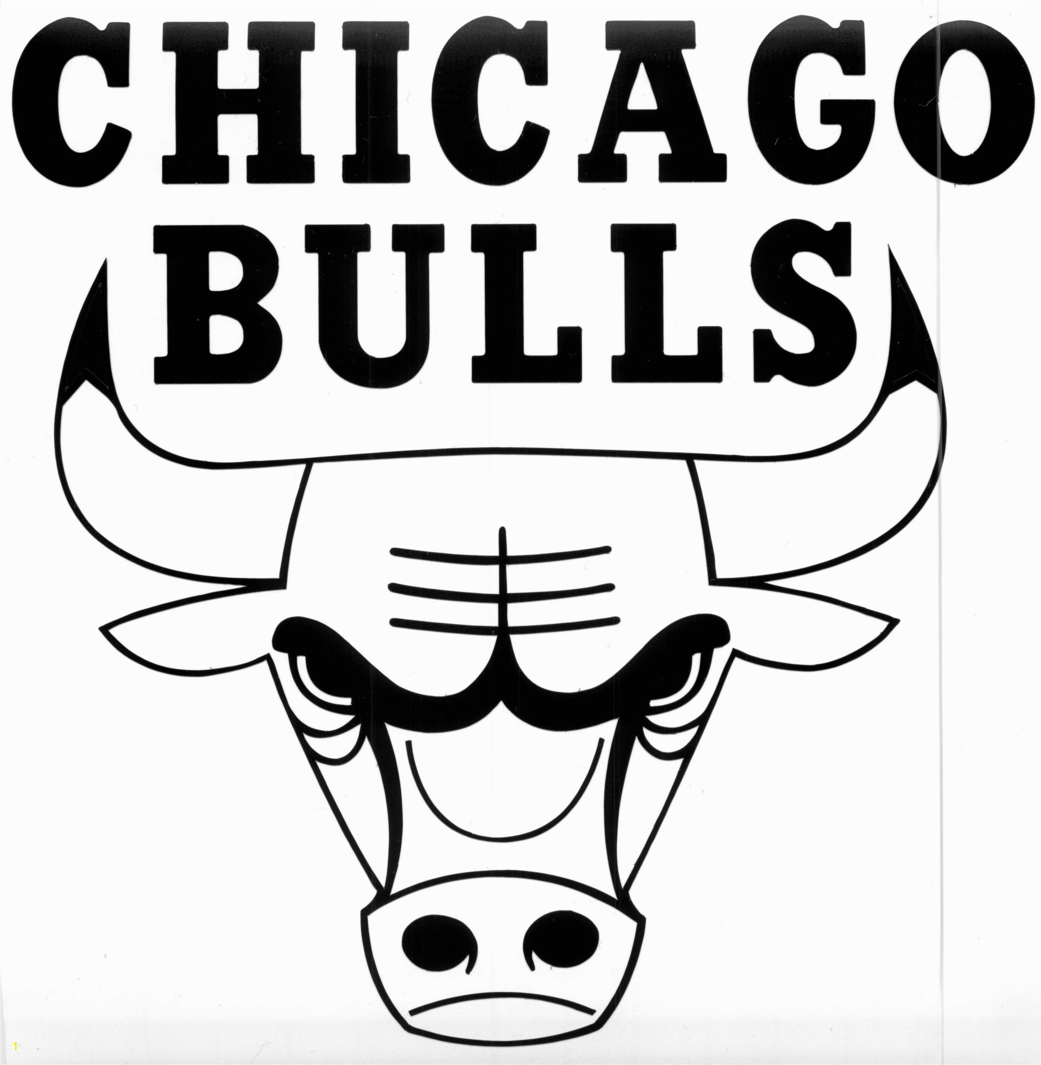 chicago bulls coloring sheet chicago bulls logo black and white