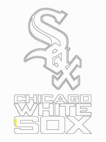 Chicago White Sox Logo Coloring page