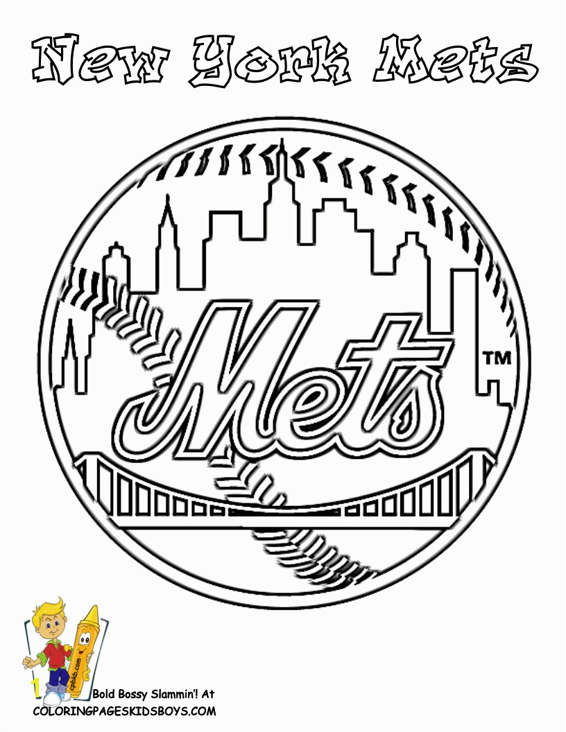 New York Mets Coloring Page Baseball Team Logo at YesColoring See n Crayon Match Team Colors