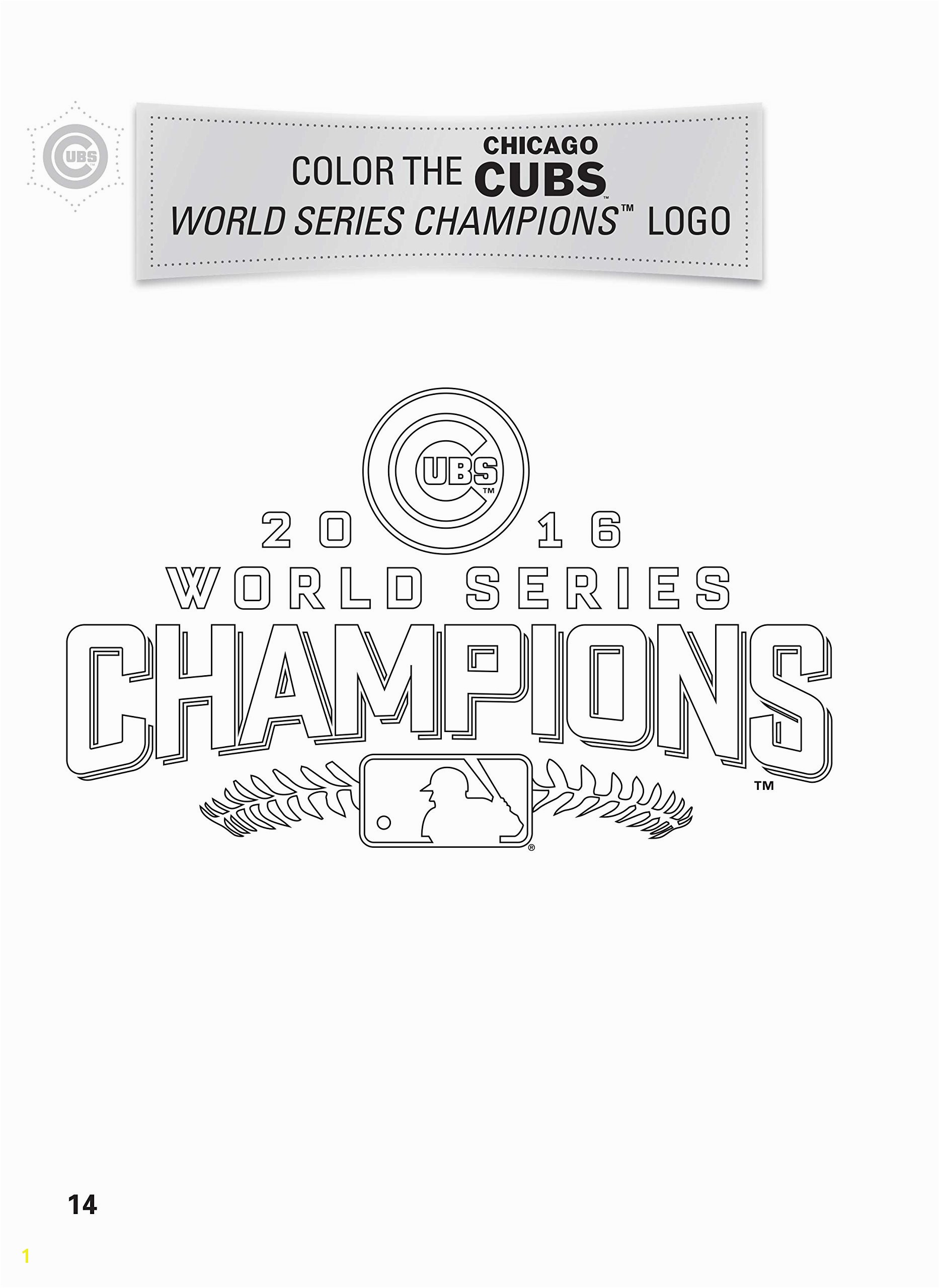 Chicago Cubs World Series Coloring Pages