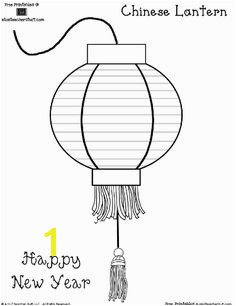 Chinese Lantern Coloring Sheet or Pattern