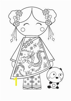 Printable traditional dress coloring pages