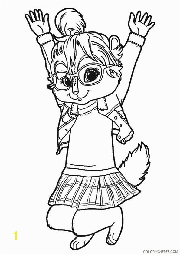 Chipmunks Coloring Pages Free Inspirational The Chipettes Coloringchipmunk Coloring Pages