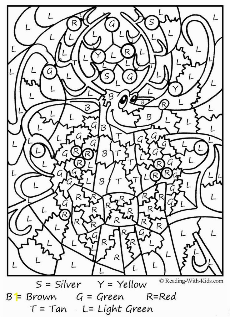 Coloring Pages Free Color By Number Printables For Adults Free Christmas Pinterest