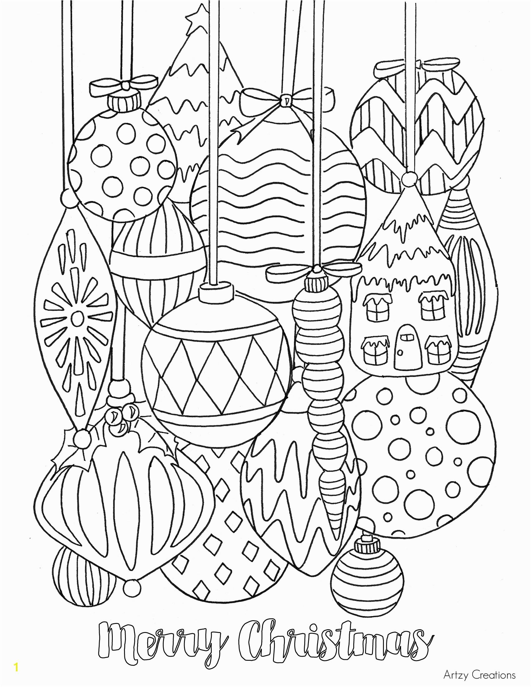 ornaments color pages