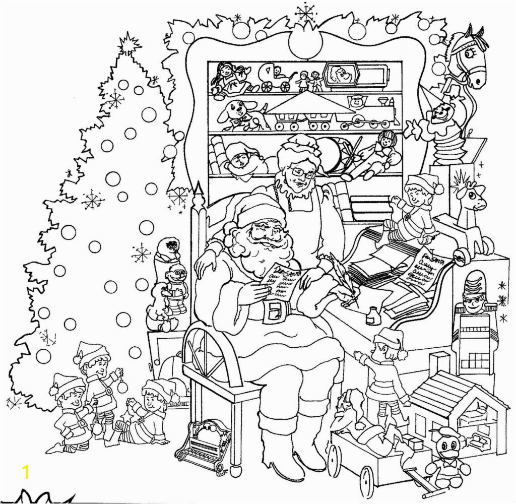 Christmas Coloring Pages For Adults Free Printable At