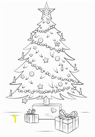Christmas Tree ornament Coloring Pages Christmas Tree Coloring Page for toddlers Cool Coloring Page Unique