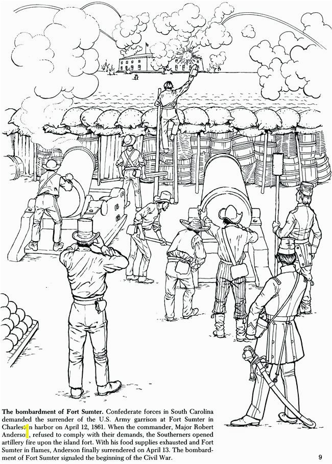 Civil War Coloring Pages Pdf Dover History Coloring Books Story the Civil War Coloring Book