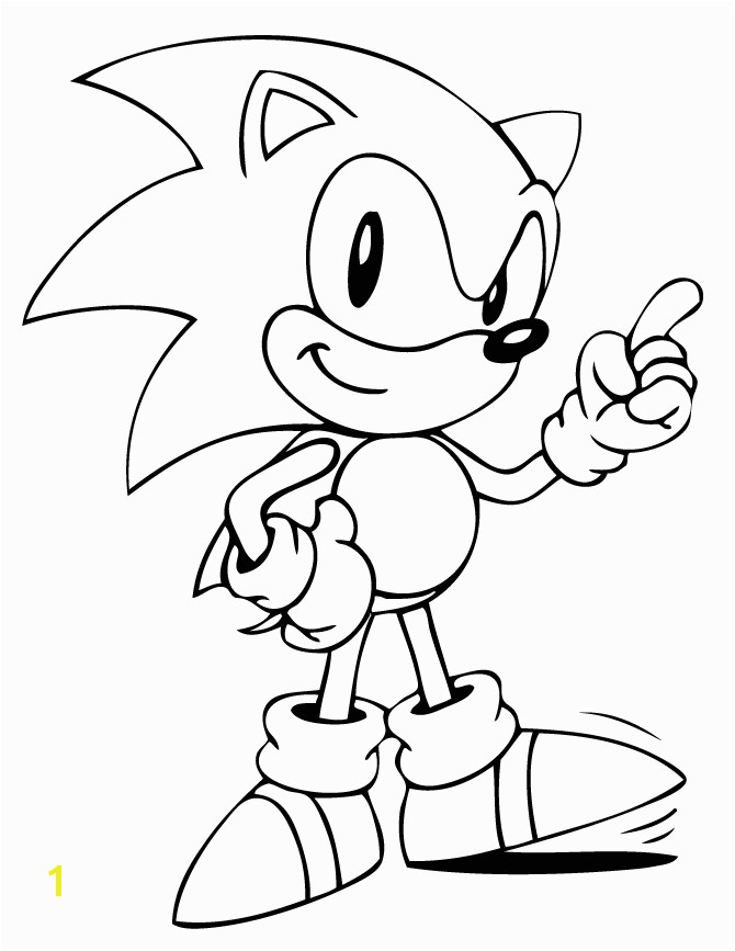 Classic sonic the Hedgehog Coloring Pages Cute sonic the Hedgehog Coloring Page Quinn