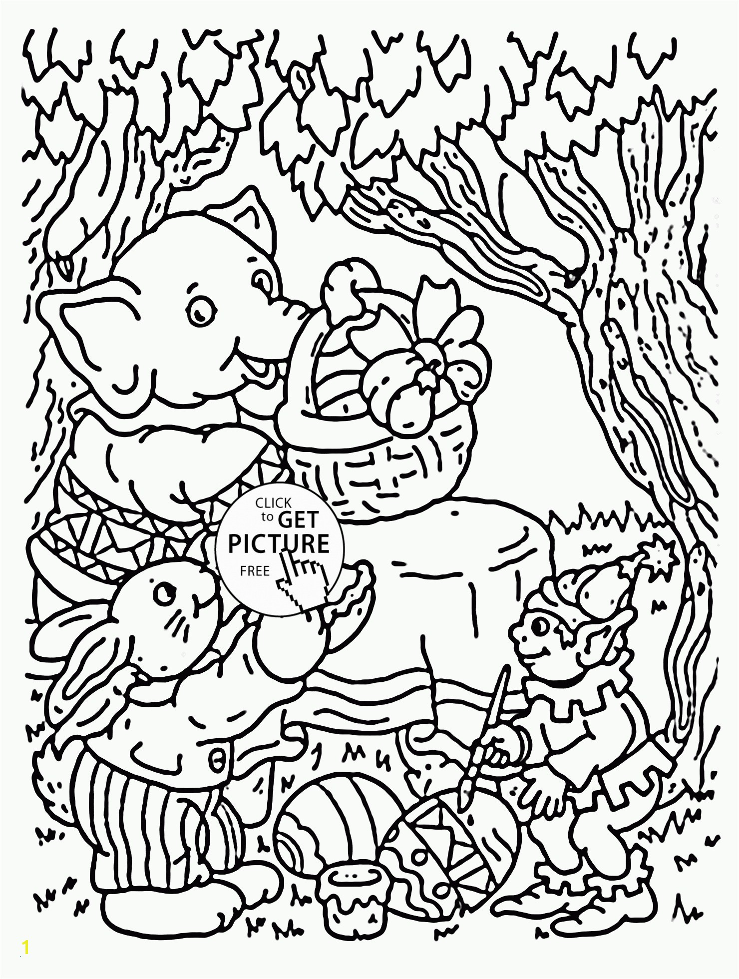 Easter In the forest Coloring Page for Kids Coloring Pages Color Page New Children Colouring
