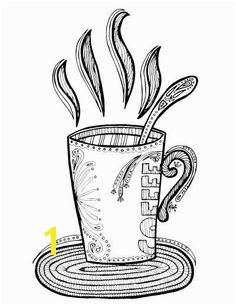 Free Coloring Page Coffee Cup Kids Activities Pinterest