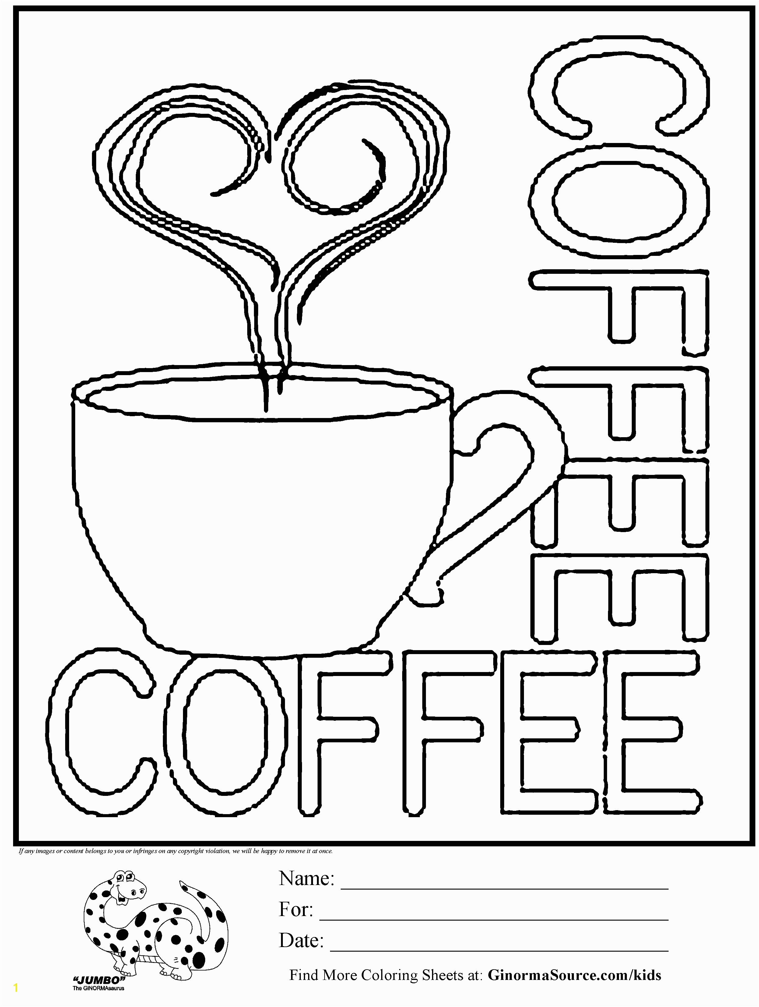 Coffee Mug Coloring Page Free Coloring Page Coffee Cup Kids Activities Pinterest