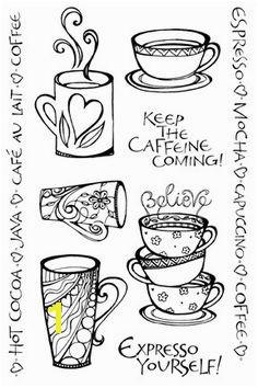 cute coffee cups printables art mugs