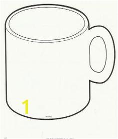 Mug Outline Coffee Mug Clipart Hot Chocolate Mug Coloring Page