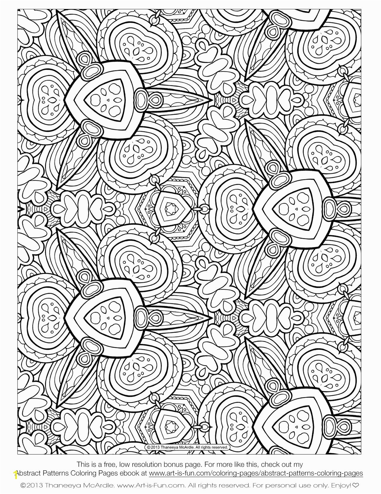 Awesome Coloring Page for Adult Od Kids Simple Floral Heart with Ruva