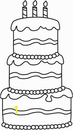 Black and White Big Birthday Cake Clip Art Black and White Big Birthday Cake Image
