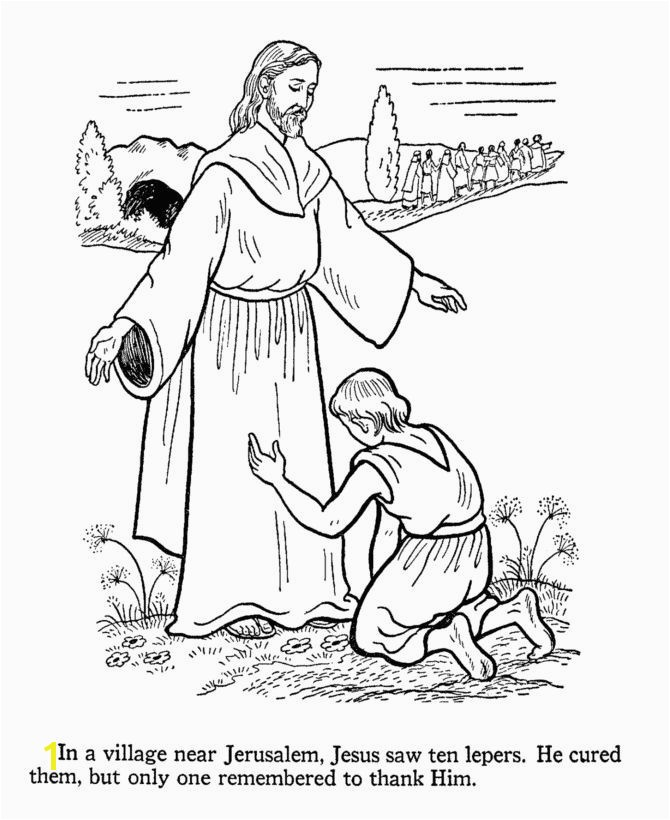 Coloring Page Jesus Heals Ten Lepers Jesus Heals Coloring Page Unique 388 Best Kids Bible Craft