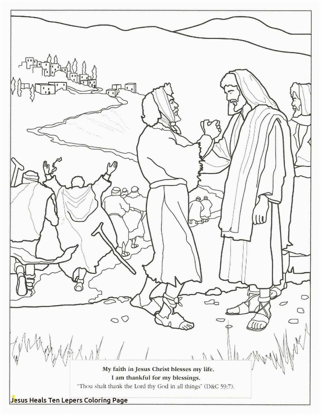 Ten Lepers Coloring Page Fine Jesus Heals Ten Lepers Coloring Page Elaboration Coloring