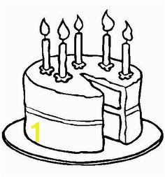 Coloring Page Of A Birthday Cake Pin by April Dikty ordoyne On Cakes and Ice Cream Pinterest