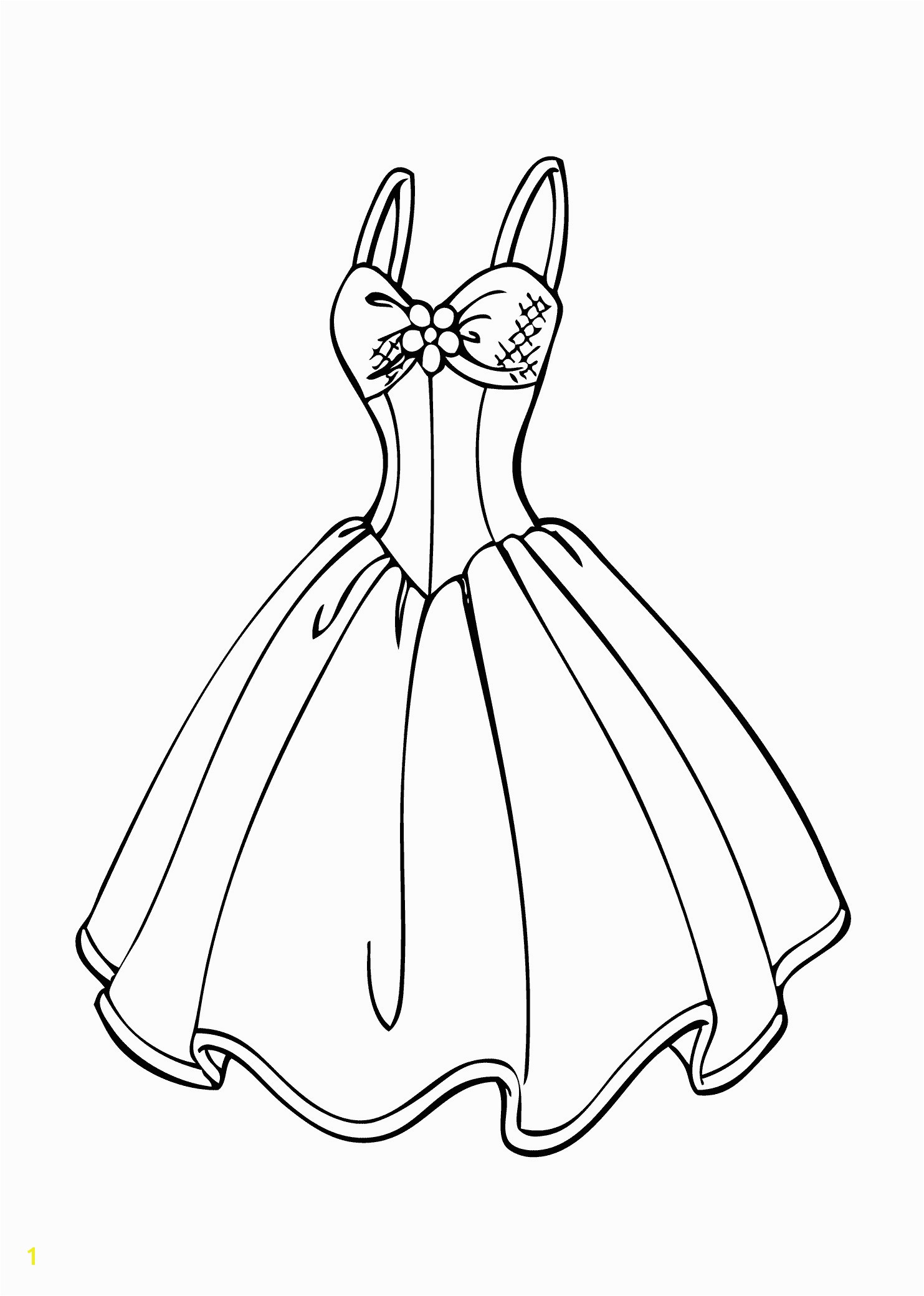 Coloring Page Of A Dress Barbie Coloring Pages Pretty Dress Coloring Chrsistmas