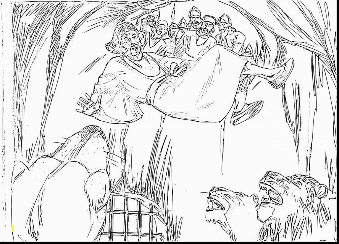 Coloring Page Of Daniel In the Lion S Den Daniel and the Lions Den Coloring Page Daniel and the Lions Den
