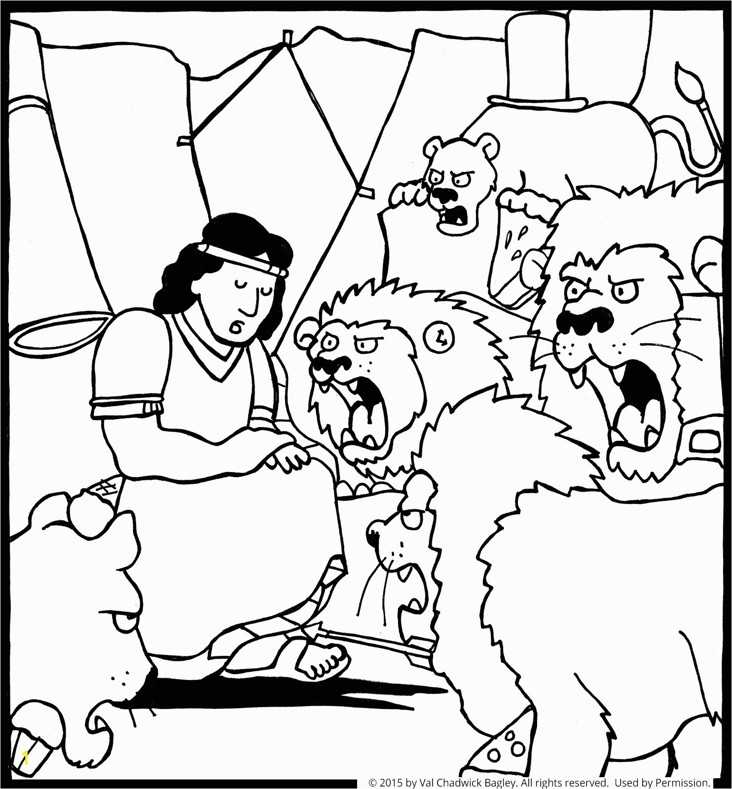 Daniel Lions Den Wallpaper In The Lion S Coloring Page