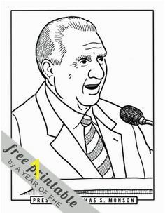 President Monson coloring page