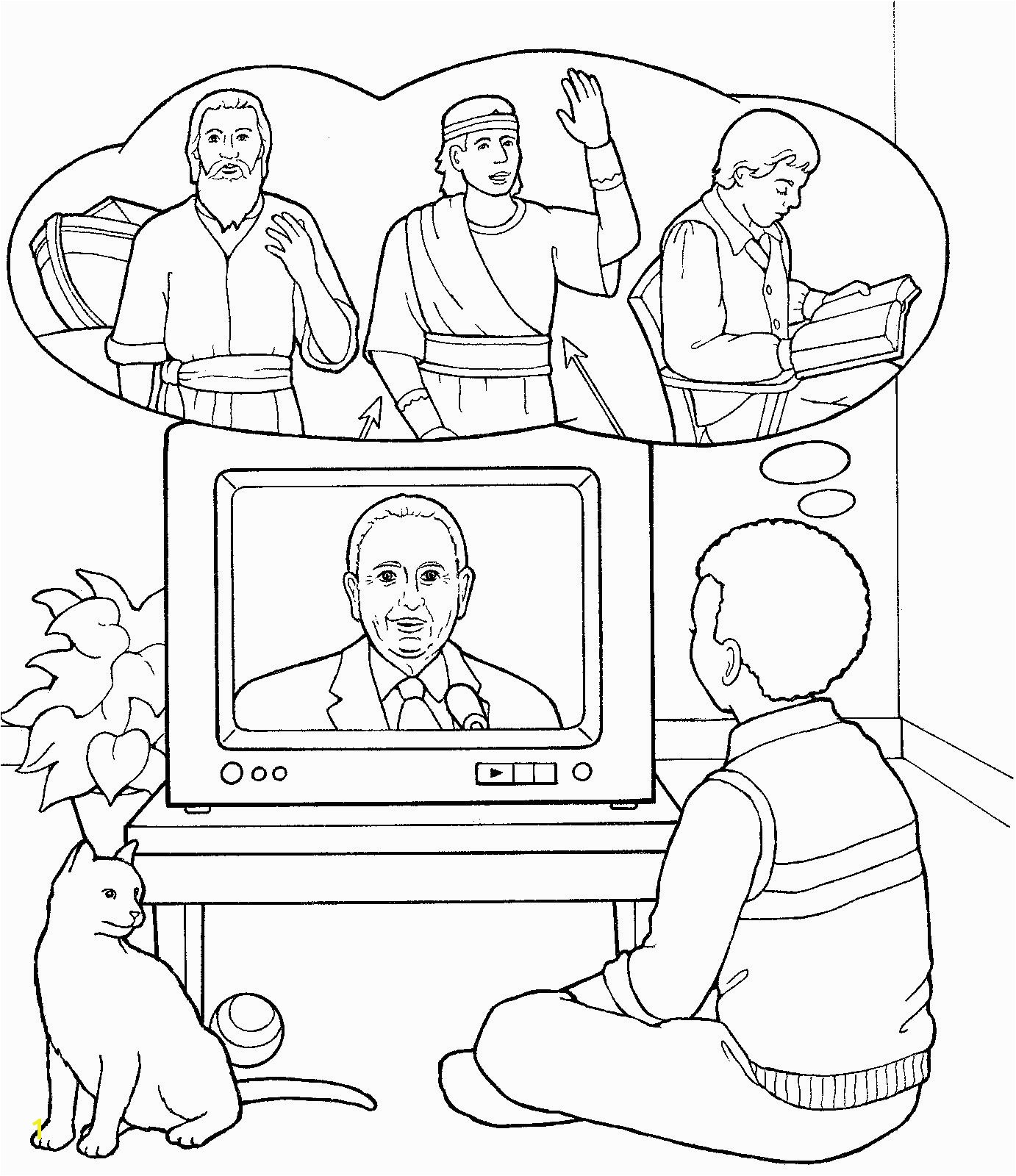 Monson during General Conference Children s Coloring Page from lds ldsprimary