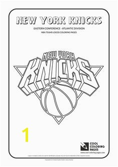 Cool Coloring Pages NBA Teams Logos New York Knicks logo Coloring page with