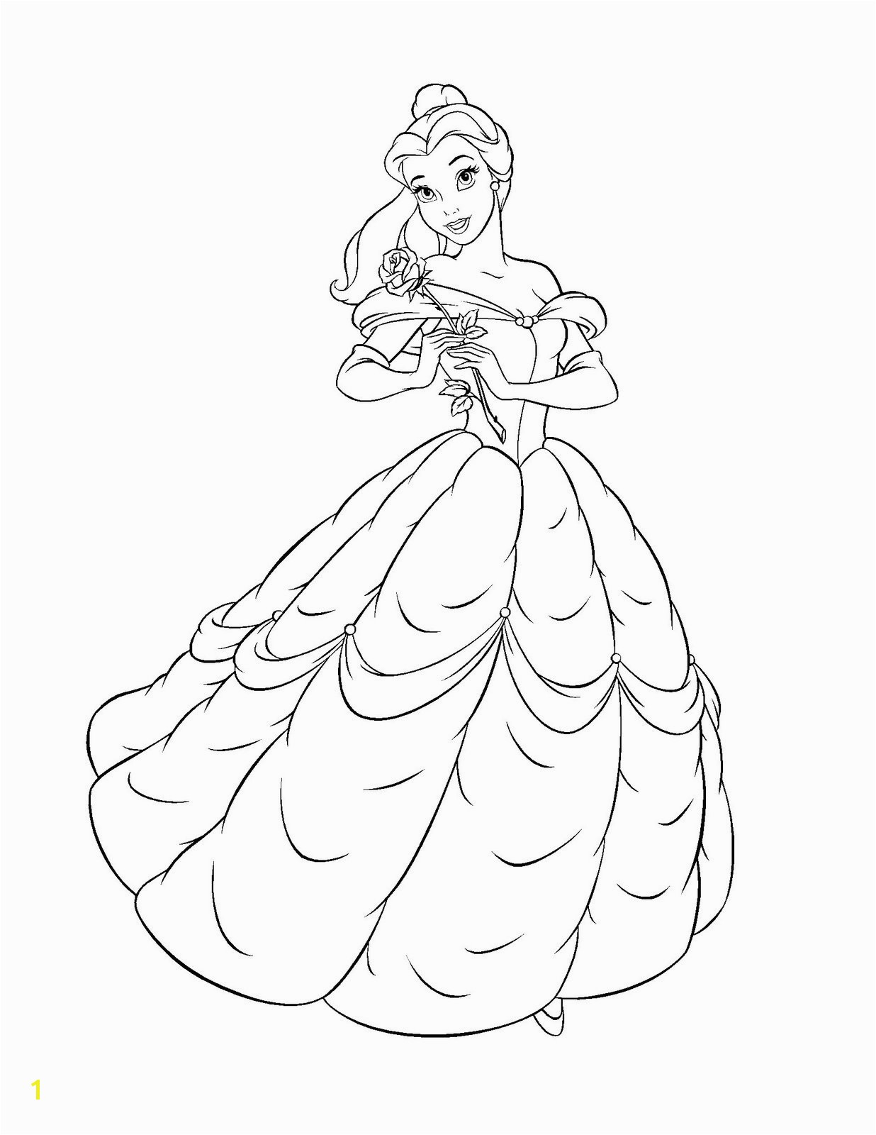 Coloring Pages Belle Princess Free Printable Belle Coloring Pages for Kids