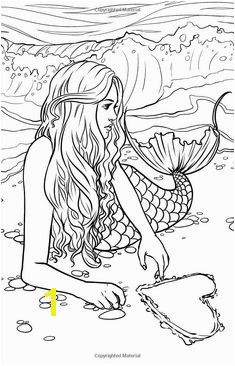 Artist Selina Fenech Fantasy Myth Mythical Mystical Legend Elf Elves Dragon Dragons Fairy Fae Wings Fairies · MERMAID COLOURING PAGESW I T C H