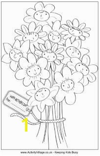Great website for coloring pages Mother s Day bouquet colouring page