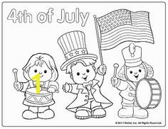 4th of July coloring page parade