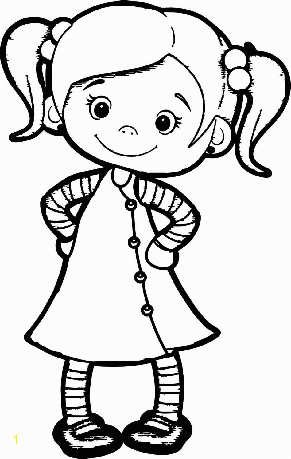 Coloring Page A Girl 53 with Coloring Page A Girl
