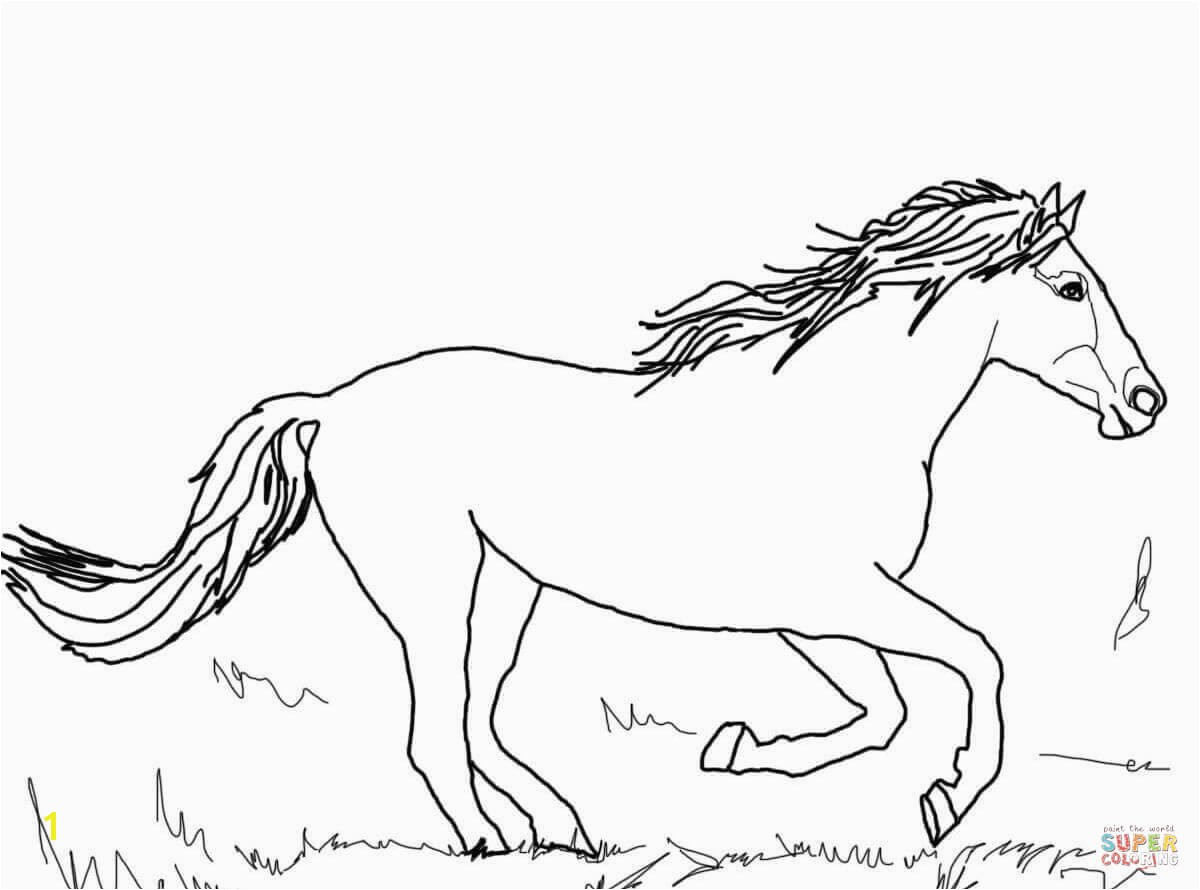 the Running Mustang coloring pages
