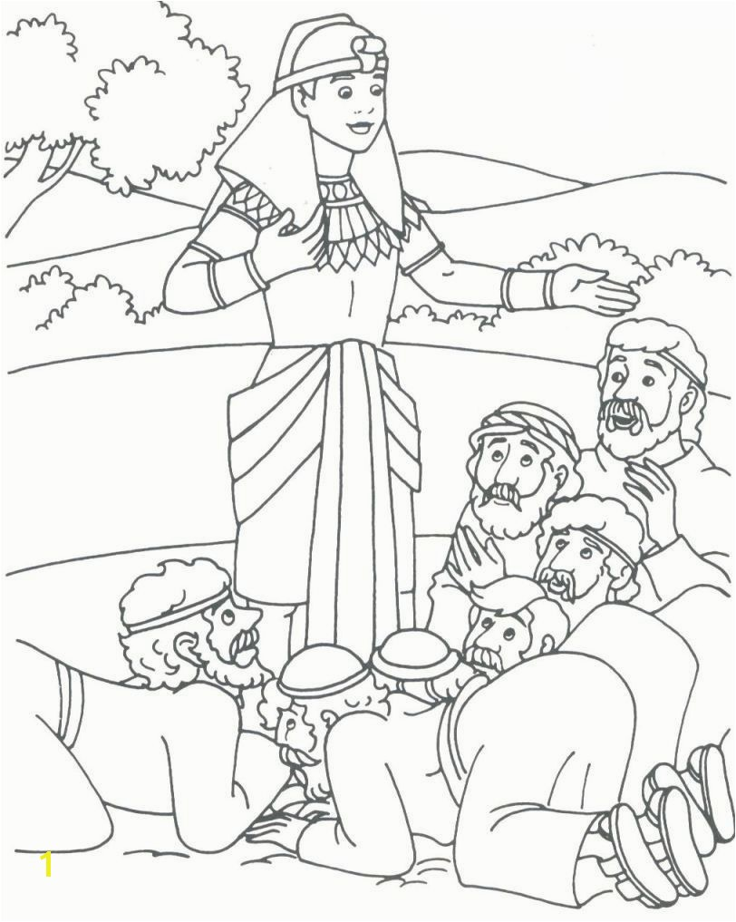 coat of many colors pharoh s dreams Patriarch Joseph Coloring Pages Joseph Coloring Pages