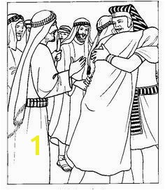 Joseph greets his brothers in Egypt Bible coloring page