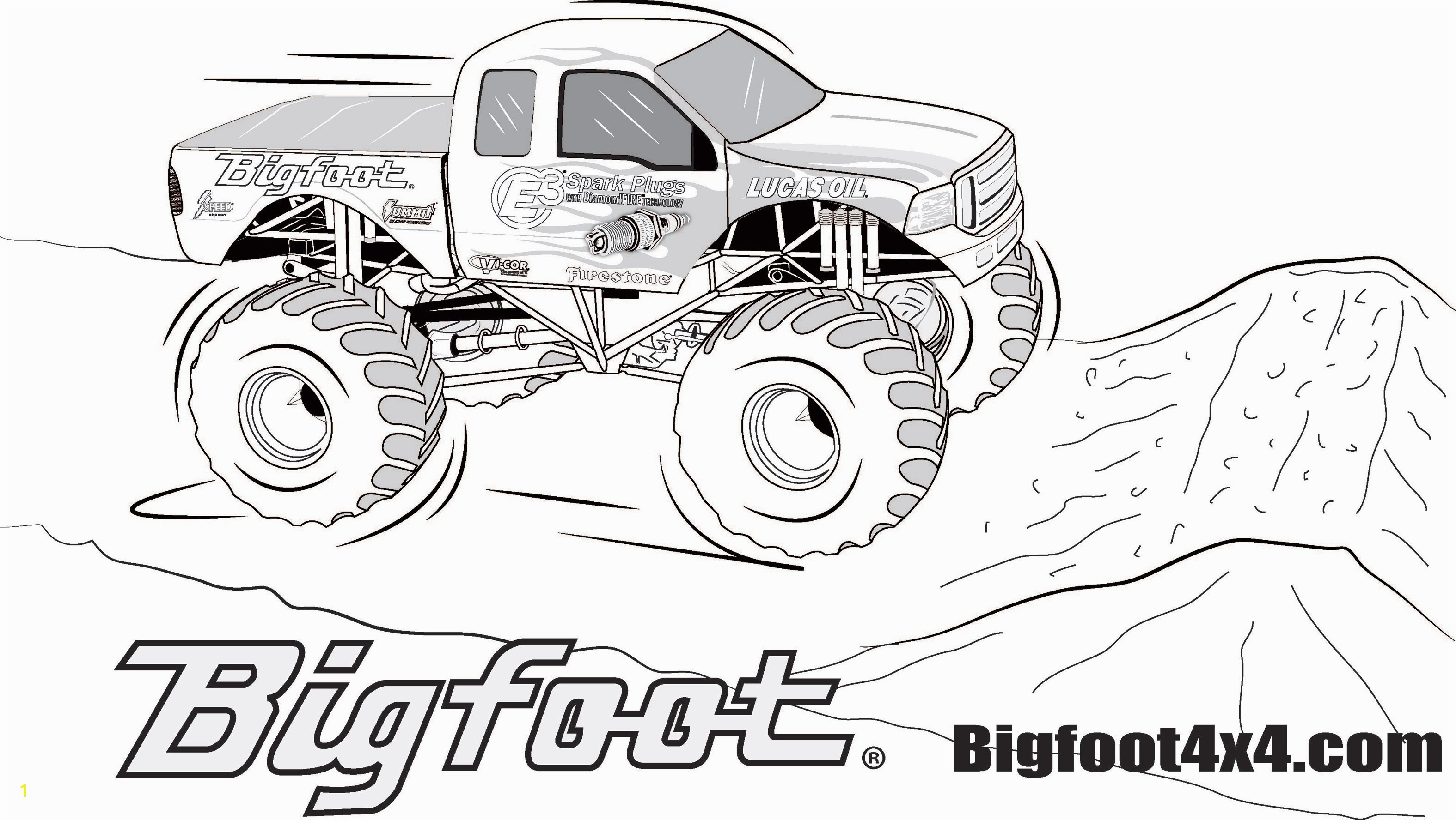 Coloring Pages Monster Trucks Ford Truck Coloring Pages Cool Coloring Pages