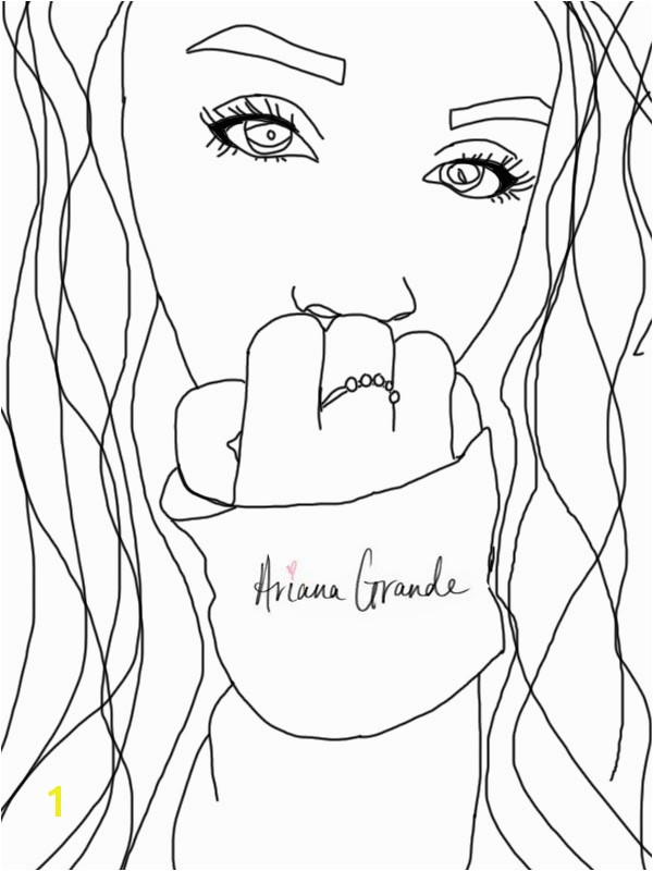 Coloring Pages Of Ariana Grande Capricious Coloring Pages Ariana Grande 8 Pics to Print Nice