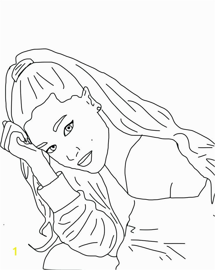 Exciting Ariana Grande Coloring Pages Coloring For Pretty Ariana Grande Coloring Pages Coloring Page Awesome Drawing Break Coloring