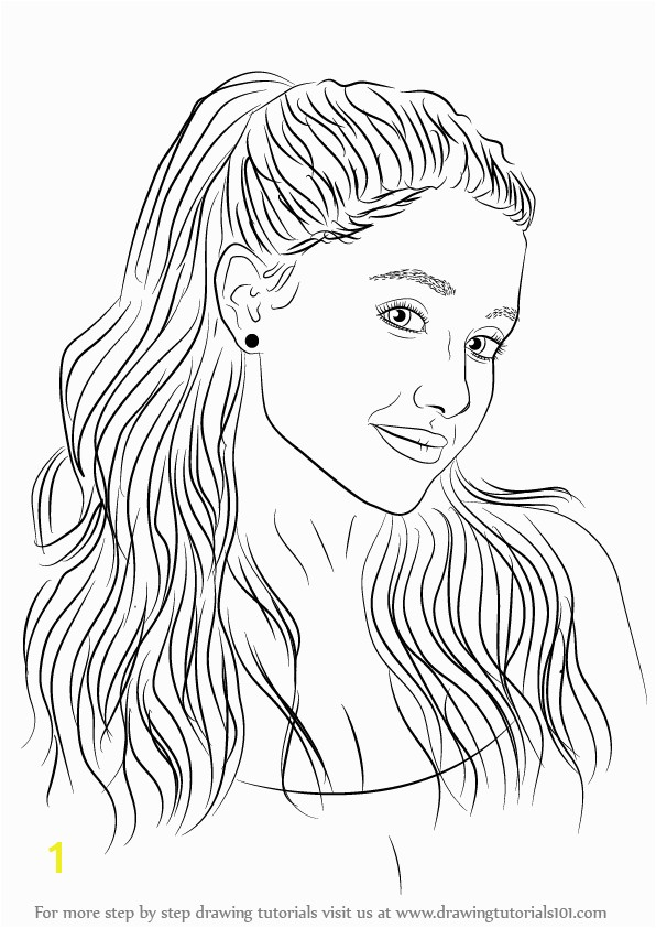 Strikingly Inpiration Coloring Pages Ariana Grande Bltidm To