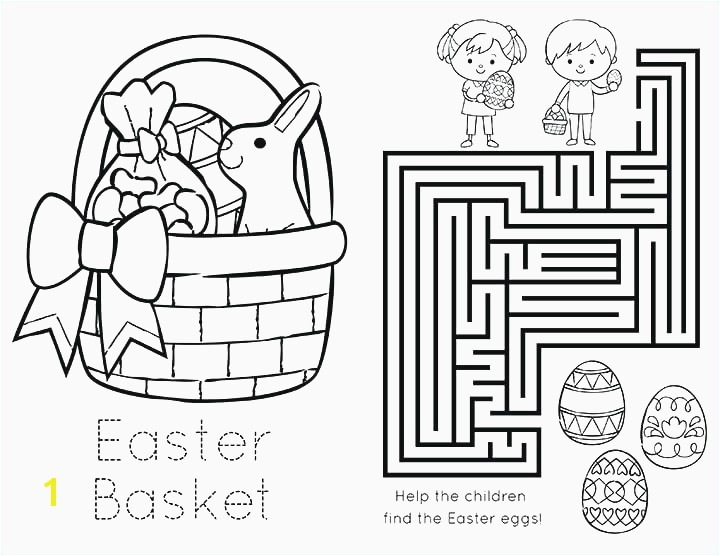 Baby Chick Coloring Pages Cute Easter Bunny with Egg Basket Easter Coloring Pages