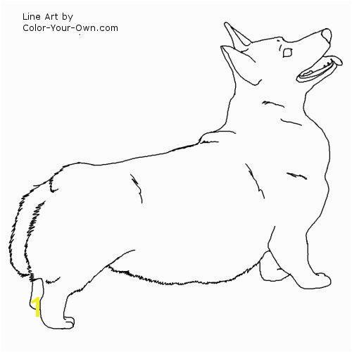 Pembroke Corgi Coloring Page