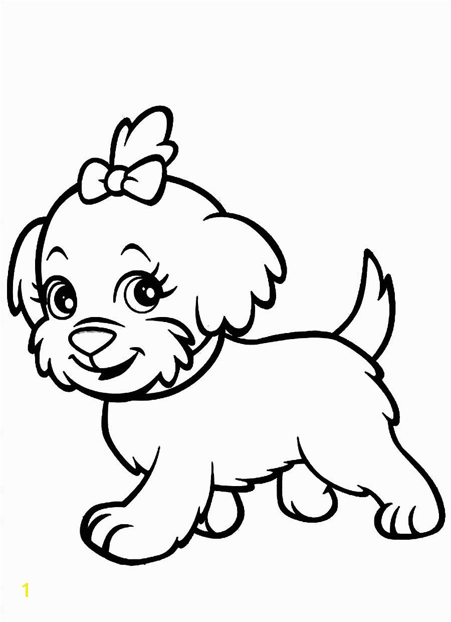 Luxury coloring pages of cute dogs and puppies 6