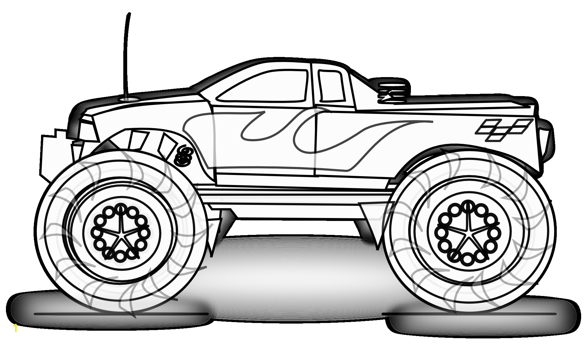 Coloring Pages Of Huge Monster Trucks Free Printable Monster Truck Coloring Pages for Kids