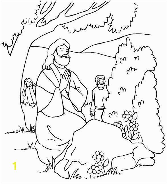 Disciples find Jesus praying coloring page