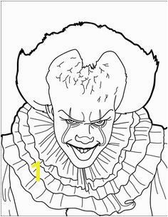 Pennywise the Clown Coloring Pages Unique Pin by Marie Lauzon Trace Pinterest 11 Awesome